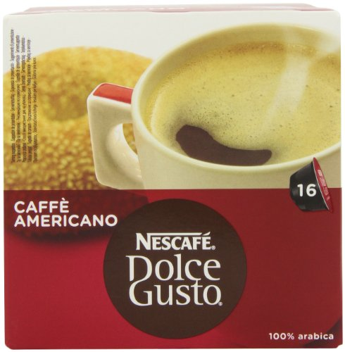 Nescaf? Dolce Gusto Caff? Americano 16 Capsules (Pack of 3, 24 Coffee pods,Total 48 Capsules, 24 Servings)