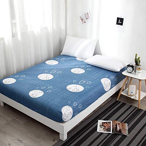Xiaomizi Sábanas, cama doble, colchón super suave anti-pliegue, 193X203+46cm