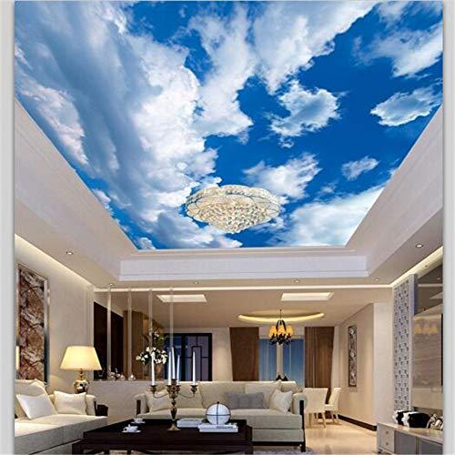 Drei -dimensionales Bild gemalt benutzerdefiniertes Papier3D -weiße Wolken blaue Himmel Wolken Deckenmalereien Tapete gemäßigte