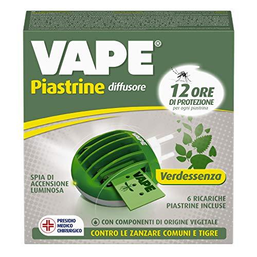 Vape Verdessenza - Difusor eléctrico contra mosquitos, 12 horas de duración, con...