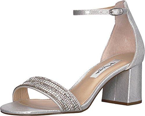 NINA Elenora True Silver Reflective Suedette 9.5 M