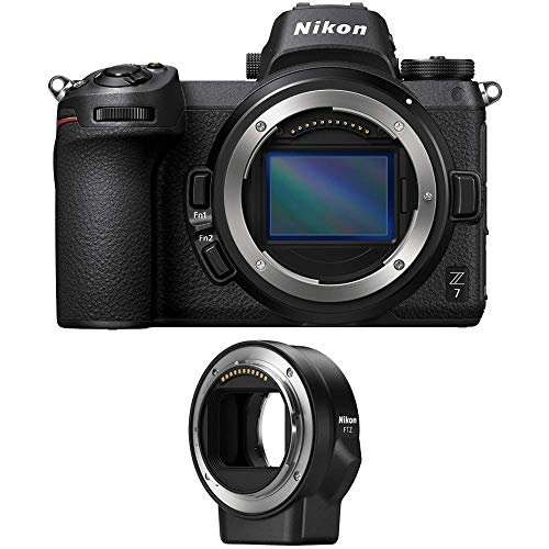 Nikon Z7 45.7MP FX-Format Full-Frame 4K Mirrorless Camera (Body) with FTZ Mount Adapter for NIKKOR F-Mount Lenses (Renewed)