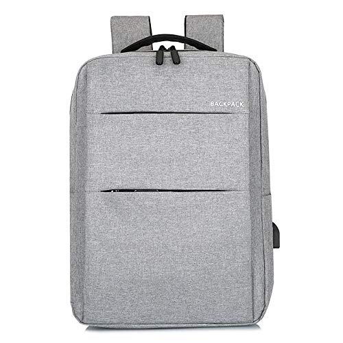 Laptop Backpack, Anti-Theft Business Travel Work Computer Backpack with USB Charging Port, Large Lightweight College School Bag 44 * 13 * 34Cm 17 Inch Light Grey