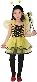 Halloween Kids Dressing Up Costumes Girls Yellow Lovely Bee Fairy Tutu Fancy Dress (Color : Yellow, Size : L)