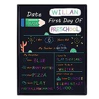 Evdream First Day of School 黒板 サイン 再利用可能 パーソナライズ 黒板スタイル 写真小道具 学校用品 子供 男の子 女の子 お手入れ簡単 8インチ x 10インチ