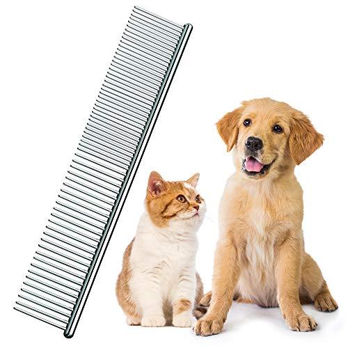 volila Peine Antipulgas De Metal para Mascotas Y Perros, Cepillo De Doble Cara para Eliminar Las Pulgas, Desenredar Y Eliminar Las Pulgas De Las Mascotas De Pelo Largo.