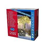 Konstsmide 3613-110 Micro LED Lichterkette / für Außen (IP44 / 24V Außentrafo / 200 warm weiße Dioden / schwarzes Kabel