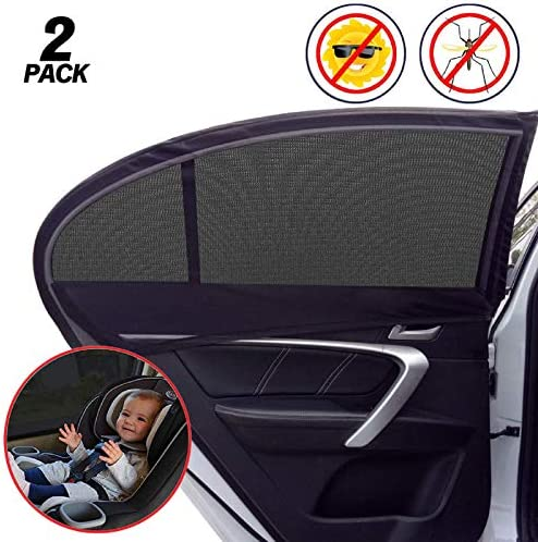 Universal Car Window Shade 2 Pack Car Side Window Sun Shade Sun Glare UV Rays and Privacy Protection product image