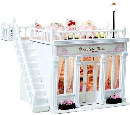 [Present-web] 可愛い ミニチュア小物が いっぱい! プレゼントにおすすめ 本格ライトアップ ミニチュア ドールハウス ケーキ 洋菓子店