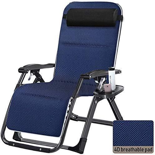 Xiesheng Sunloungers Sun Lounger Garden Chairs Foldable Deck Chair Zero Gravity Recliner Garden Chair, Home Folding Sun Lounger with Cushions, Patio Recliner Chair (Color, With pad),With Pad