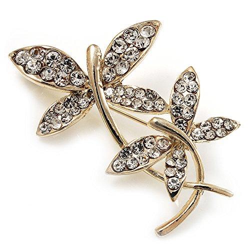 Delicada mariposa broche chapado en oro