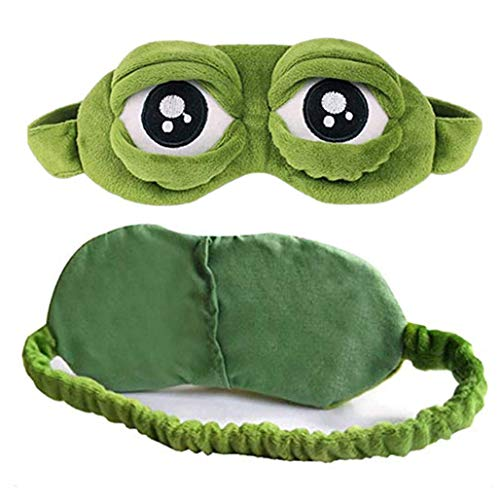 Enzege 3D Kikker Leuke Oog Cover Slaap Masker Slaap Cartoon Blindfold Grappig Groen Gift