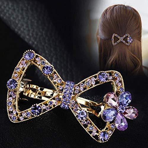 L-djp Fleur Mesdames Barrettes Strass Brillant Pins Cheveux Décoratifs Boutique Barrette De Soirée De Mariage Simple Coiffures Cheveux Barrette B