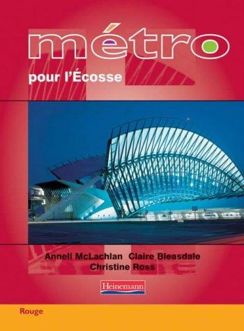 Metro pour L'Ecosse Rouge Student Book