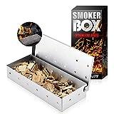 Boîte à fumage en acier inoxydable pour barbecue à gaz, barbecue à...