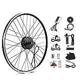 SEASON Kit de conversión para bicicleta eléctrica de 26 pulgadas, motor trasero de 36 V y 250 W, rueda libre de 6/7/8/9 velocidades, con indicador LED, acelerador giratorio