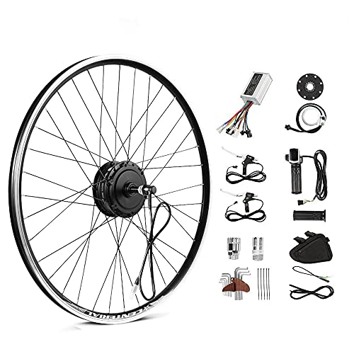 Season 26 Inch E-Bike Conversion Kit 36V250W Rear Motor for Electric Bicycle Freewheel for Disc/V brake, with LED display, Twist throttle