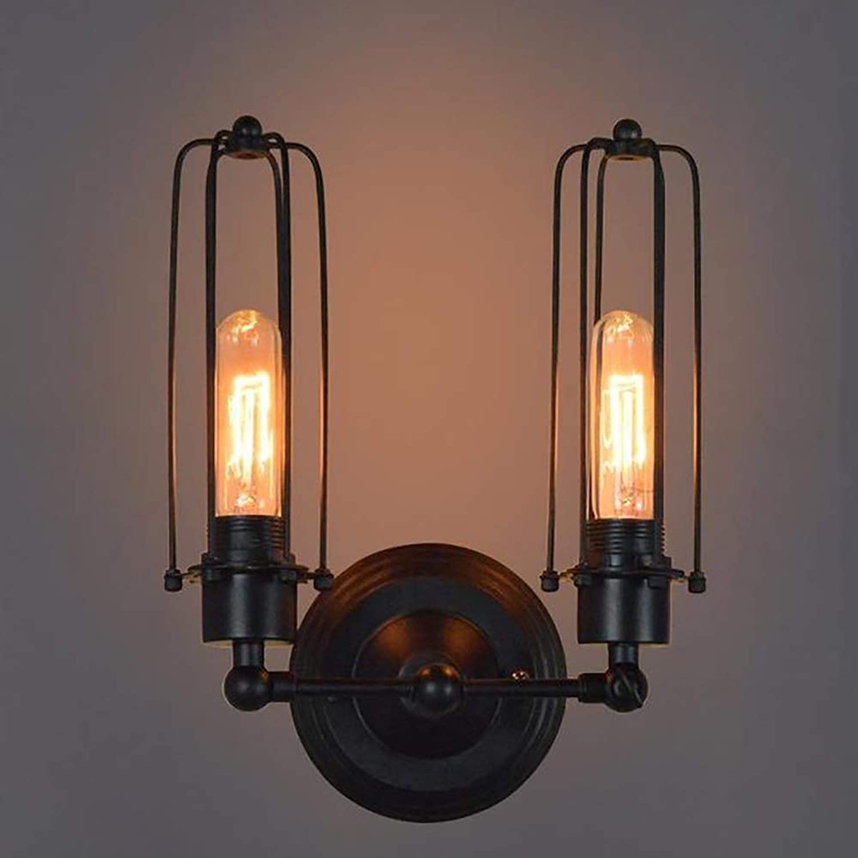 Retro Wall Lamp Vintage Industrial Rural Retro-Stil Eisen Cage Light Metal Lighting Sources Fixtur Antique für Indoor Home, Restaurants, Coffee Shop, Club Decoration Wandleuchte,B
