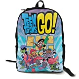 Teen Titans Go 16.5 Inch Double Compartment Student Backpack School Bag Suitable For Boys And Girls School College Outdoor Travel