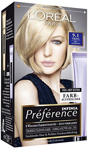 L'Oréal Paris Préférence, 9.1 Hellaschblond, 3er Pack (3 x 1 Stück)