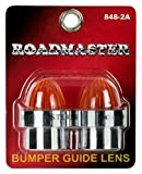 Roadmaster 848-2A Chrome Amber Threaded ABS Bumper Guide Lens, 2 Pack...