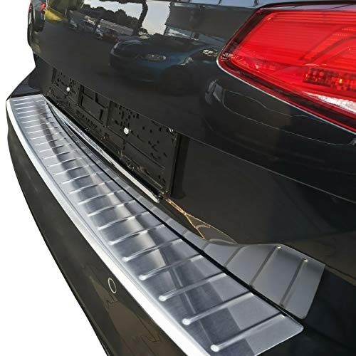 Recambo CT-LKS-2260 LADEKANTENSCHUTZ Edelstahl MATT für VW Golf 7 Variant | ab 2013 | mit ABKANTUNG, Large