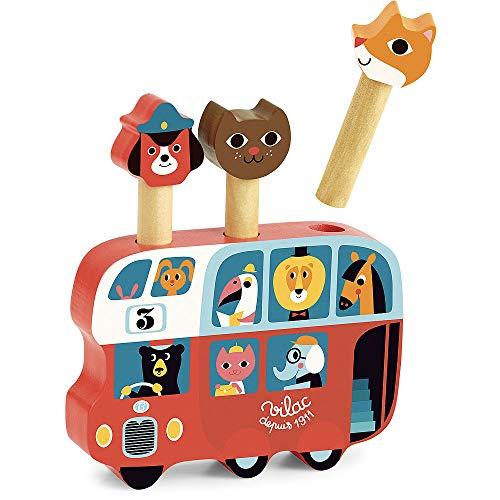 Vilac- Pop-up Autobus Ingela P.Arrhenius, 7751, Multicolore