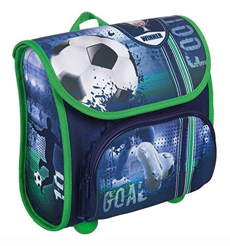 Scooli FCPR8240 - Vorschulranzen Cutie mit Klettverschluss, ergonomisch, leicht, Football, ca. 4,5 Liter