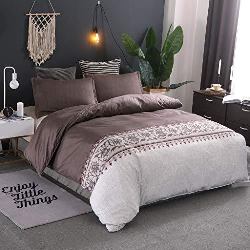YZDM - Juego de cama con diseño de estilo étnico y étnico, estampado en 3D, microfibra, funda de edredón para niños y niñas dormitorio (D,150 x 200)