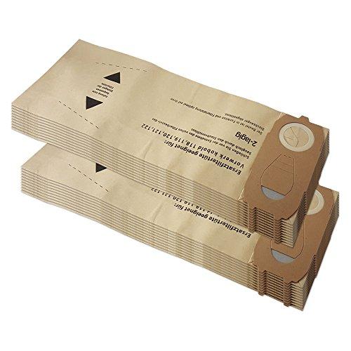 KIT - 20 Sacchetti Per Aspirapolvere adatti per Vorwerk Kobold Folletto VK118, VK119, VK120, VK121, VK122, VK 118, 119, 120, 121, 122 - Adattabili