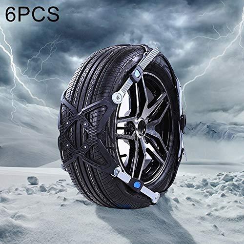 Cadenas de Nieve para neumáticos Cadenas Cadenas 6 PCS del neumático del Coche...