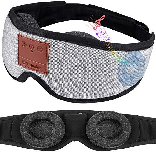Sleep Headphones,Tufusiur 3D Sleep Mask Bluetooth 5.0 Wireless Music Adjustable Eye Mask Sleeping Headphones for Side Sleepers, Gifts for Women Men for Travel, Meditation