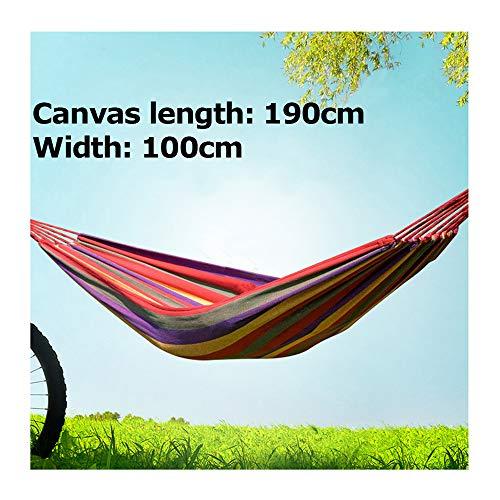Buiten canvas reishangmatten met canvas tas, ultralichte campinghangmat, draagbaar strandschommelbed, hangend hangend binnenbed voor buiten,100cm
