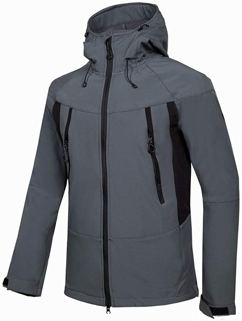 MODOQO Men's Snow Winter Warm Thick Coat with Hood, Zipper Jacket Windproof Outwear Hiking Camping