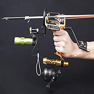 HBG Powerful Pro Fishing Slingshot Reel Catapult Archery Bowfishing Arrows Slingbow with Arrow Brush ,Fishing Reel ,Fishing Reel Rack,Flashlight