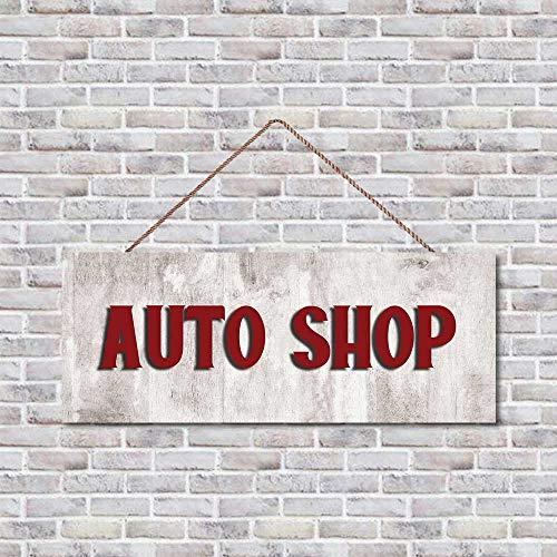 Auto-Shop Türschild, Holzschild, Türschild, Türschild, Veranda-Dekor, Bauernhaus Holzschild