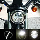 5-3/4 faro rotondo Halo LED 5,75 pollici DRL per Harley Davidson Dyna Softail Sportster Wide Glide Iron 883 Street Bob Low Rider