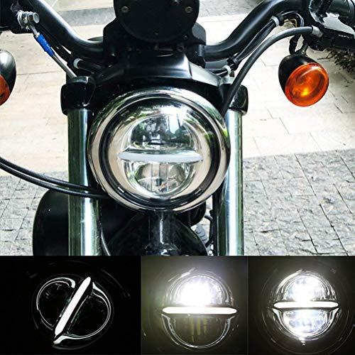 5-3/4 faro rotondo Halo LED 5,75 pollici DRL per Harley Davidson Dyna Softail Sportster Wide Glide Iron 883 Street Bob Low Rider