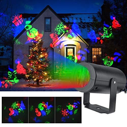 LED De Navidad del Copo De Nieve De Proyección De Luz 12 Patrones Impermeable Disco De La Luz del Efecto De Etapa For La Fiesta De Navidad De La Decoración del Hogar Jardín Mostrar