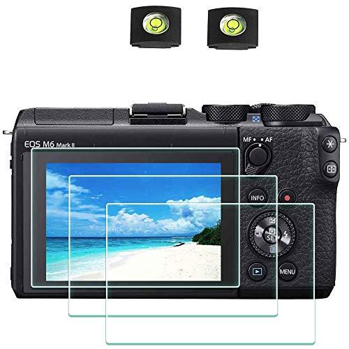 Displayschutzfolie Schutzfolie für Canon EOS M6 Mark II Kamera und Blitzschuhabdeckung , ULBTER 0,3 mm 9H Härte gehärtetes Glas Kratzfest, Anti-Fingerabdruck - 3 Stück