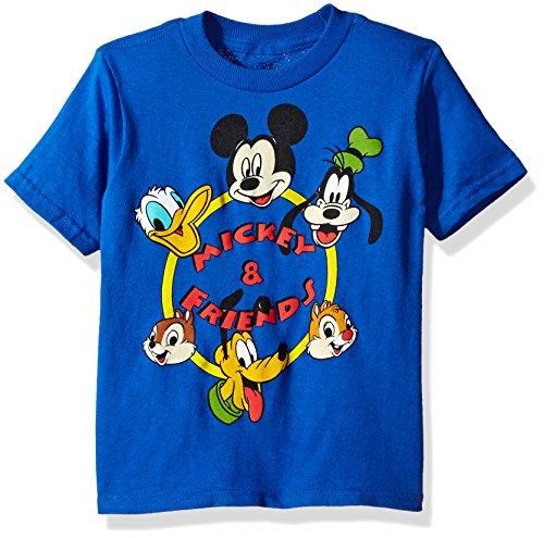 Disney Toddler Boys' Mickey Mouse Short Sleeve T-Shirt, Royal, 3T