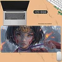 素敵なマウスパッド特大アイスプリンセスゴーストナイフ風チャイムプリンセスアニメーション肥厚ロック男性と女性のキーボードパッドノートブックオフィスコンピュータのデスクマット、Size :400 * 900 * 3ミリメートル-CS-016