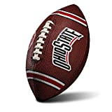 Franklin Sports NCAA Ohio State Buckeyes Kids Youth Football - Official College Team Football with Team Logos - Junior Size Football