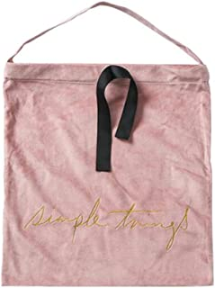 TOPBATHY ギフトヘアドライヤーホテルの収納袋のためのドローストリングの御bag走袋が付いているビロードの袋袋ベルベットのジム袋のドローストリングの布のパッキング袋(ピンク)