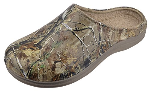 Realtree Camo Mens Lined Clog with Sherpa Lining, Multi, 10