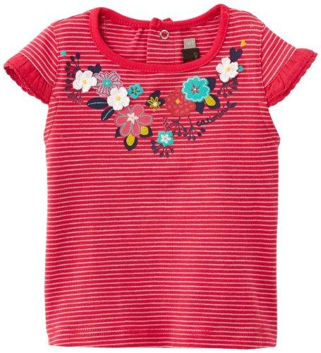 Catimini - Raye - t-Shirt - bébé Fille - Rouge (géranium) - 3 Ans