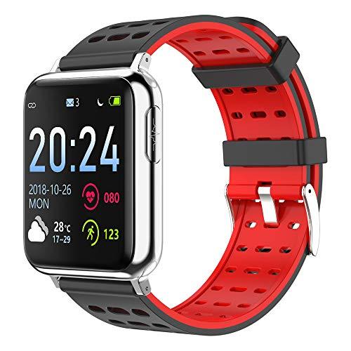 Rastreador de ejercicios, pulsera inteligente seguimiento de actividad con las calorías del ritmo cardíaco del sueño Seguir el podómetro cronómetro saltos antagonistas impermeable llamada SMS SNS,1