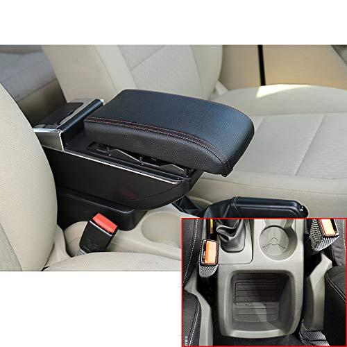 Für Focus 2 09-11 Luxus Auto Armlehne Mittelarmlehne mittelkonsole Zubehör Eingebaute LED-Licht Schwarz