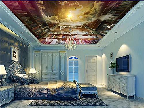 ShAH Custom 3D Decke Foto Dream Bookshelf 3D Wallpaperling Wallpaper 3D Deckengemälde für Wohnzimmer 200cmx140cm