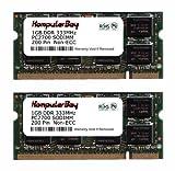 Komputerbay PC2700 333Mhz 2x1GB M/ódulo de memoria port/átil 200 pines SODIMM DDR3 2GB